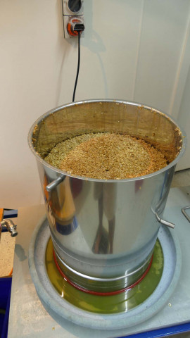 "No sparge, but ""lost"" 1.7 litres due to relatively short draining duration"